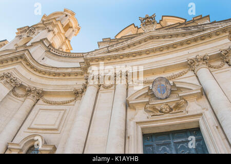 front facade of sant´agnese in agone at piazza navonna - Stock Photo