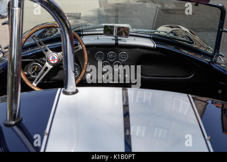 Reutlingen, Germany - August 20, 2017: Shelby Cobra oldtimer car at the Reutlinger Oldtimertag event on August 20, - Stock Photo