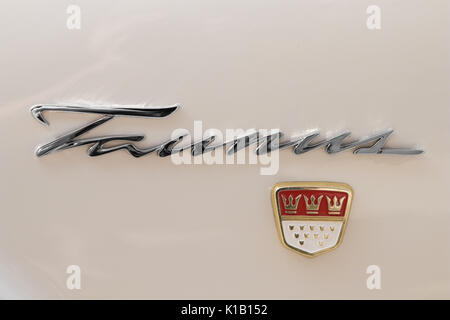 Reutlingen, Germany - August 20, 2017: 1962 Ford Taunus 17M P3 oldtimer car at the Reutlinger Oldtimertag event - Stock Photo