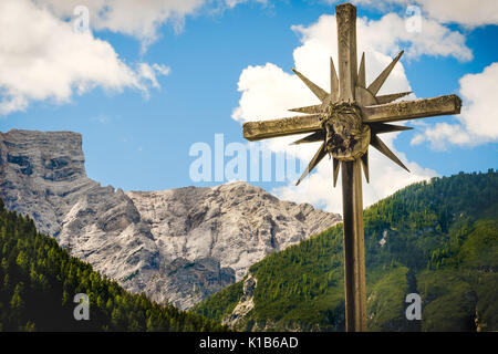 mountain crucifix - Stock Photo