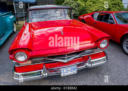 vintage red car - Stock Photo