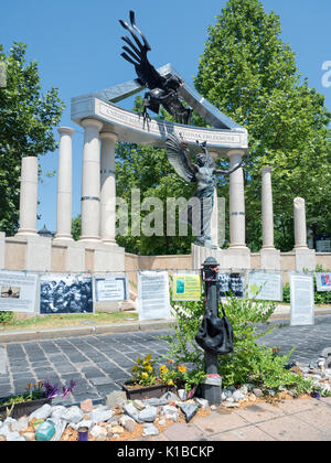 Budapest, Hungary - June 11, 2017 : Monument commemorating all the victims of the Nazi Germany occupation of Hungary - Stock Photo