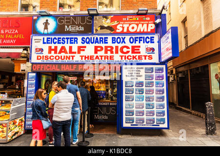 Leicester Square Box office, West End theatre tickets, discount theatre tickets, Leicester square ticket office, - Stock Photo