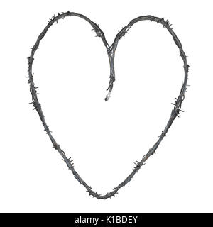 Heart with barbed wire, illustration Stock Photo: 79988483 - Alamy
