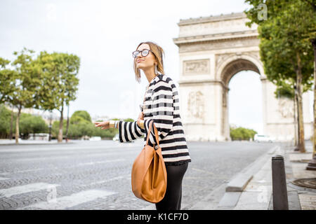 Business woman in Paris - Stock Photo
