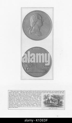 Medal designed to commemorate the George Washington lead victory at Boston on March 17, 1776, front side is George - Stock Photo