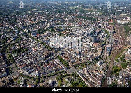 Overview of Dortmund, Dortmund main station, Dortmund, Ruhr area, North Rhine-Westphalia, Germany - Stock Photo