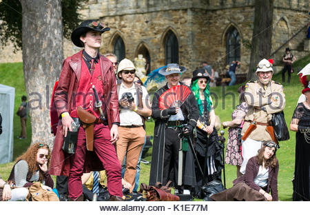 Lincoln, United Kingdom. 26th Aug, 2017. Wild west style steampunk shootout at Lincoln Castle, UK. Lincoln hosts - Stock Photo