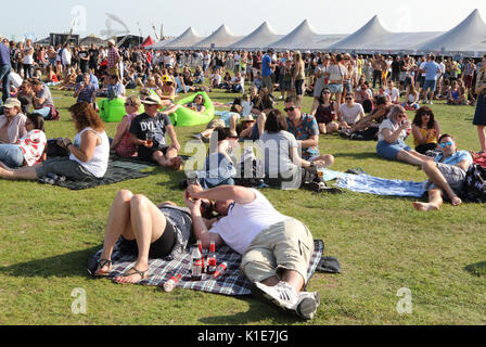 Portsmouth, UK. 26th Aug, 2017. Police in attendance at Victorious Festival at Southsea seafront, Portsmouth, Hants - Stock Photo