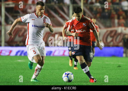 Buenos Aires, Argentina. 26th August, 2017. Fabricio Bustos of Independiente during the match between Independiente - Stock Photo