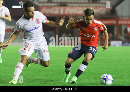 Buenos Aires, Argentina. 26th August, 2017. Ezequiel Barco of Independiente during the match between Independiente - Stock Photo