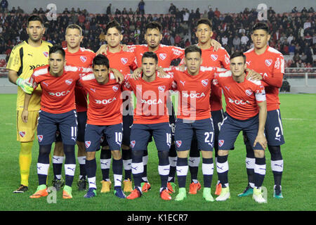 Buenos Aires, Argentina. 26th August, 2017. Team of Independiente during the match between Independiente x Huracan - Stock Photo