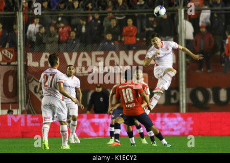 Buenos Aires, Argentina. 26th August, 2017. Fernando Coniglio, player of Huracan, during the match between Independiente - Stock Photo