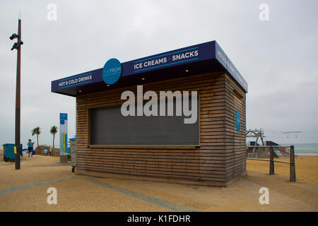 BOURNEMOUTH, UK - AUGUST 22, 2017: The Prom Kiosk on Bournemouth Seafront - Stock Photo