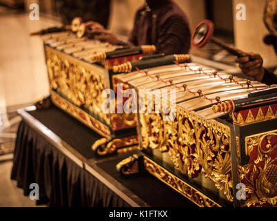an exotic gamelan music traditional from jogja indonesia java - Stock Photo