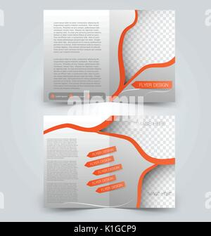 Modern Abstract Bifold Business Brochure Template Or Magazine - Two page brochure template