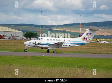 Short Inverness airport stopover before returning back south. - Stock Photo