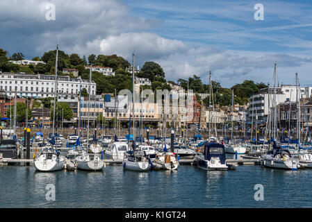 Torquay Harbour, Torquay, a seaside town in Devon, England, UK - Stock Photo