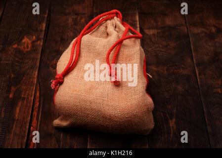 Fruit bag on a black wooden background