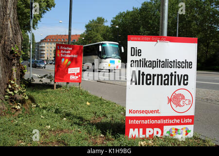 Elections posters of the MLPD (Marxist-Leninist Party of Germany) and DKP (German Communist Party). (Photo by Alexander - Stock Photo