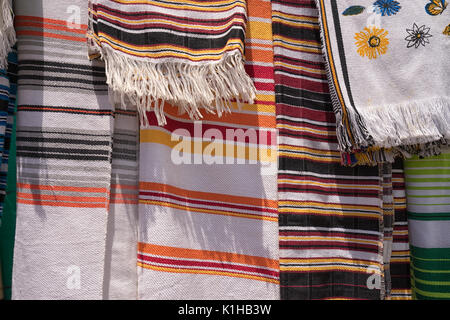 traditional men's ponchos in Colombia - Stock Photo