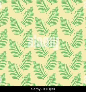 color background pattern green palm leaves