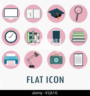 Universal Flat Icons for Web and Mobile Applications Set, vector - Stock Photo