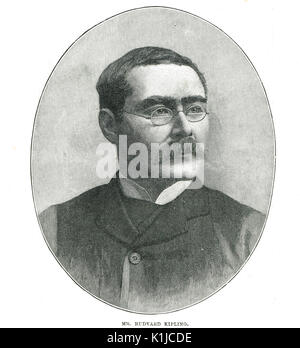 Rudyard Kipling poet and novelist, 1895 - Stock Photo