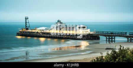 BOURNEMOUTH, UK - AUGUST 22, 2017: Bournemouth Pier at Dawn - Stock Photo