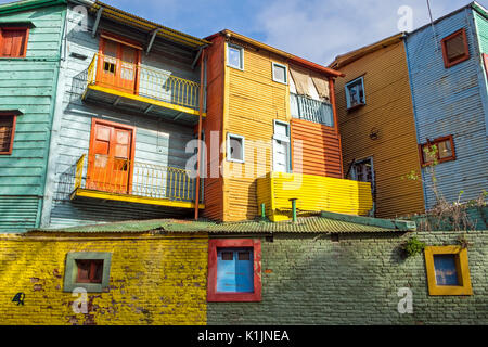The colorful buildings of La Boca in Buenos Aires
