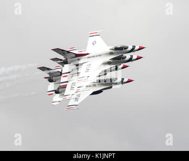 The USAF Thunderbirds aerobatic formation display team at the 2017 Royal International Air Tattoo - Stock Photo