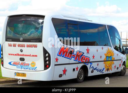 Mil-Ken Travel, mini coach, coaches, day trip, trips, excursion, excursions, travel company, companies, England, - Stock Photo