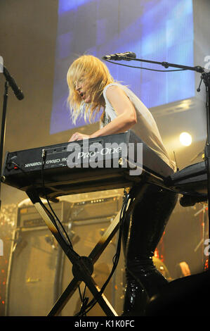 Emily Haines Metric performs 2009 KROQ Almost Acoustic Christmas Night 2 Gibson Amphitheatre Los Angeles. - Stock Photo