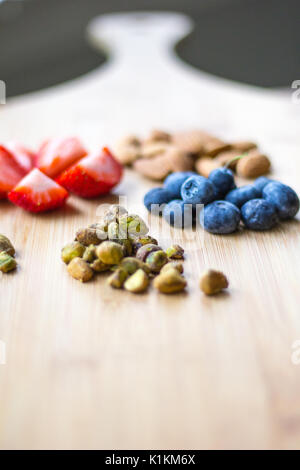 Healthy Fruit on a Wood Cutting Boards - Stock Photo