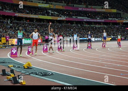 Mohammed AMAN (Ethiopia), Kyle LANGFORD (Great Britain), Pierre-Ambroise BOSSE (France), Nijel AMOS (Botswana), - Stock Photo
