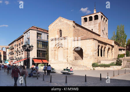 Church Igelsia de San Clemente, Segovia, Castilla y Leon, Spain - Stock Photo