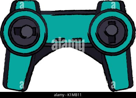 drone remote control device transmitter technology - Stock Photo