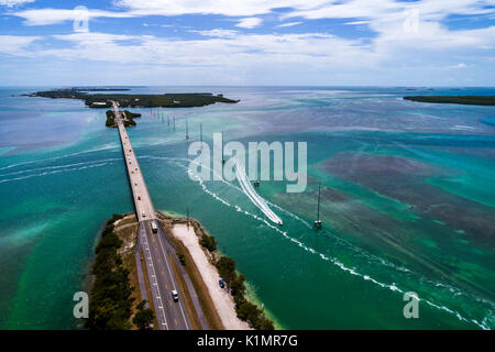 Florida Florida Keys Upper Islamorada Indian Key Lignumvitae Key Aquatic Preserve Florida Bay Atlantic Ocean Route - Stock Photo