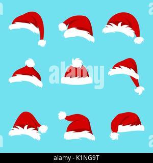 c8db01c9053 set of santa hats on different balls of sport Stock Photo  63791914 ...