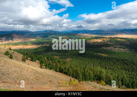 Beautiful landscape and mountain from overlook - Stock Photo
