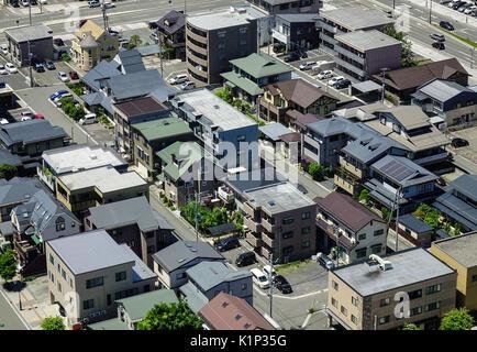 Yamagata, Japan - May 19, 2017. Many houses located at Yamagata City in Tohoku, Japan. Yamagata is located in Tohoku - Stock Photo