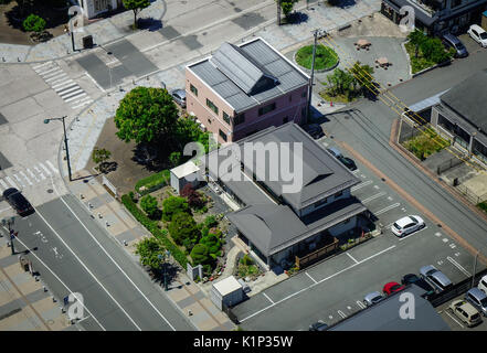 Yamagata, Japan - May 19, 2017. Residential houses located at Yamagata City in Tohoku, Japan. Yamagata is located - Stock Photo