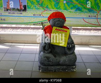 Yamagata, Japan - May 19, 2017. A statue for decorations at Buddhist temple in Yamagata, Japan. Yamagata is the - Stock Photo