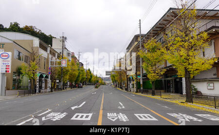 Kyoto, Japan - Nov 28, 2016. View of street at downtown in Kyoto, Japan. Kyoto is also known as the thousand-year - Stock Photo