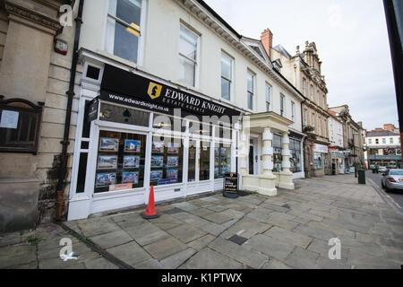 Estate agent Northampton England - Stock Photo