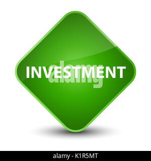 Investment isolated on elegant green diamond button abstract illustration - Stock Photo