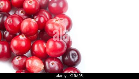 Natural, organic cranberry. close-up photo.  - Stock Photo