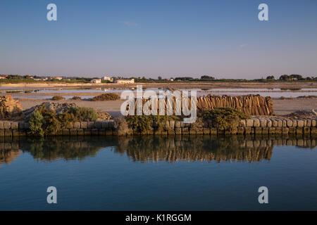 Marsala (Italy) - 'Saline dello Stagnone', the Salt Lake in the Natural Reserve of the Stagnone Islands in Marsala, - Stock Photo