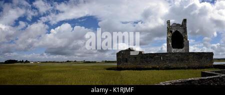 Ireland Carrigafoyle Castle Co. Kerry. Ruined Elizabethan fortress, River Shannon, Wild Atlantic Way. - Stock Photo