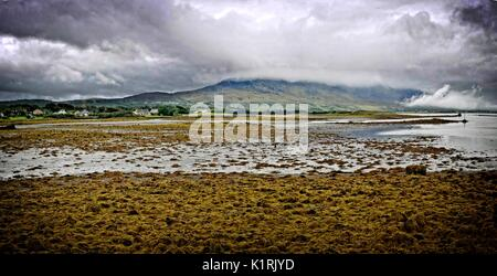 Ireland Co Mayo Westport coastal panorama - Stock Photo